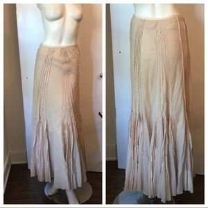 Margaret O'Leary Cotton Blush Maxi Skirt